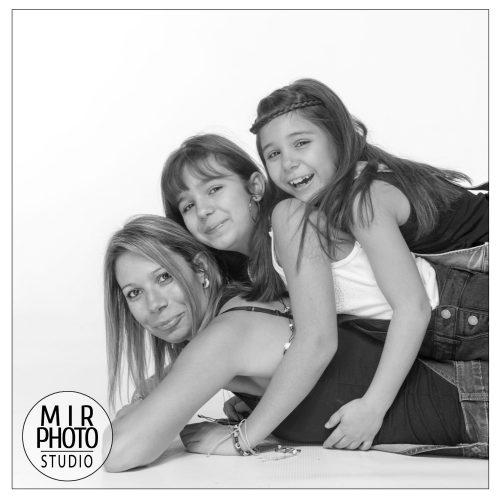 Shooting photos mère/filles en Studio Photo