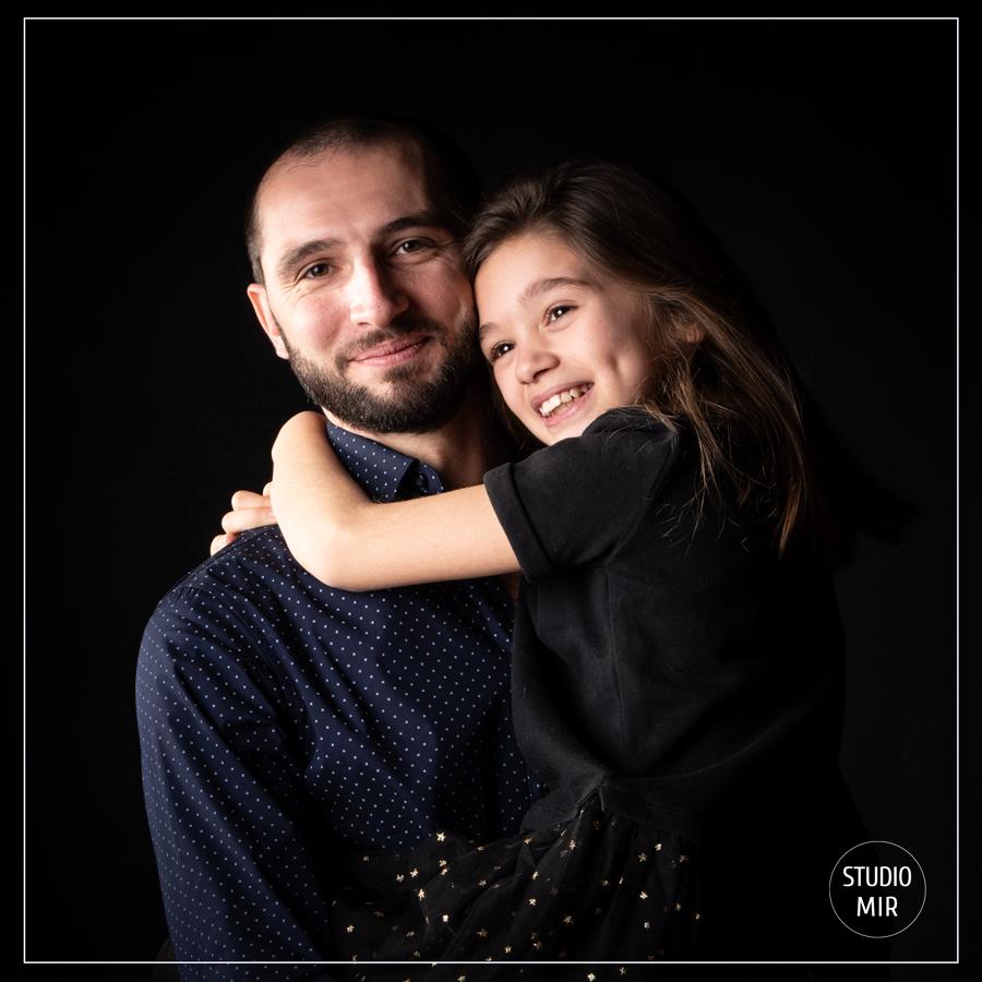 père et fille portrait