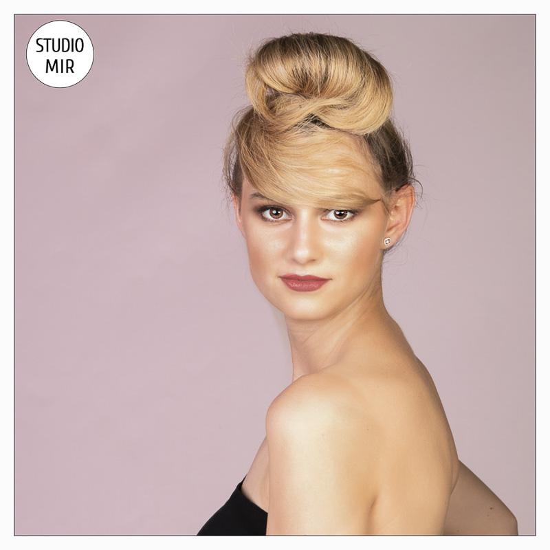 Photographe book modèle - relooking poour l'Oréal