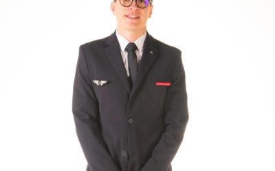Portrait professionnel de steward en studio photo dans le Val de Marne