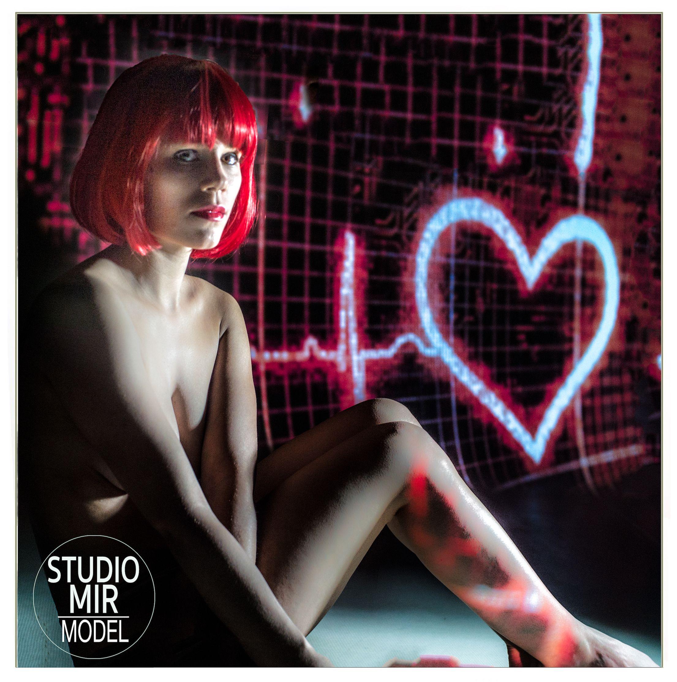 Projection de cercles sur le corps en studio photo dans le Val de Marne