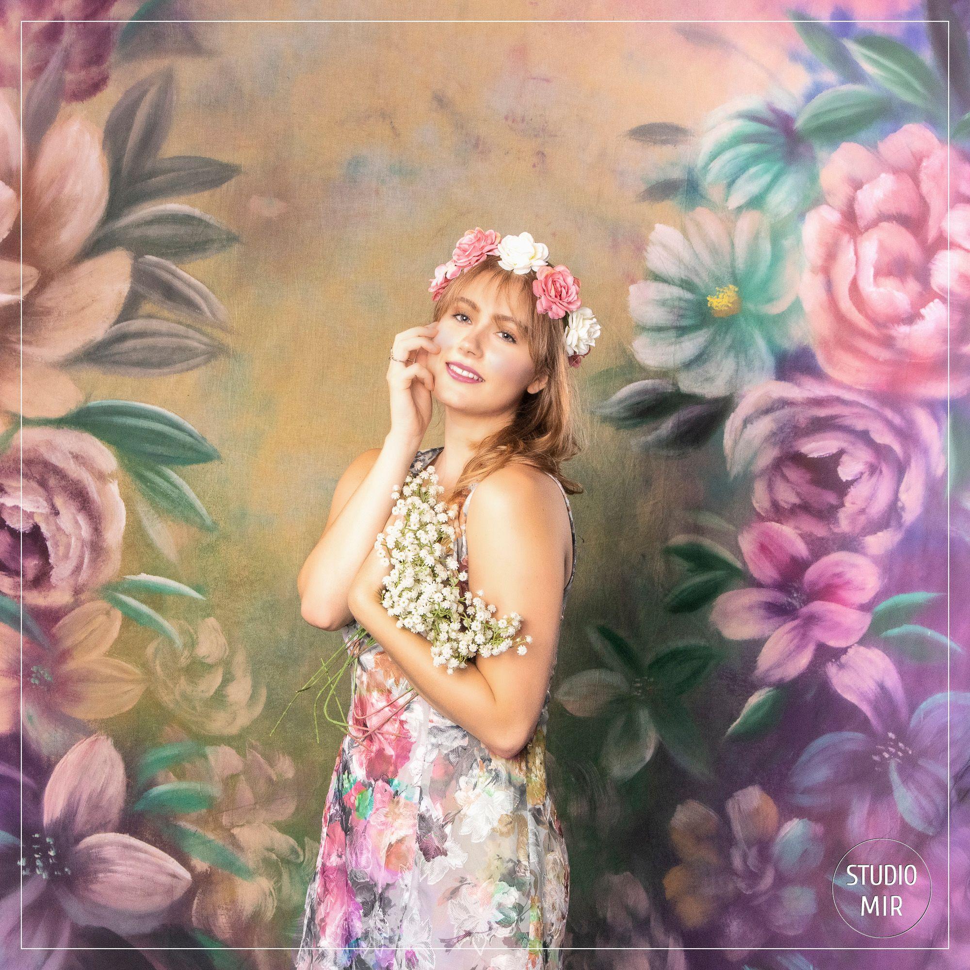 Séance photo en studio avec des fleurs en région parisienne
