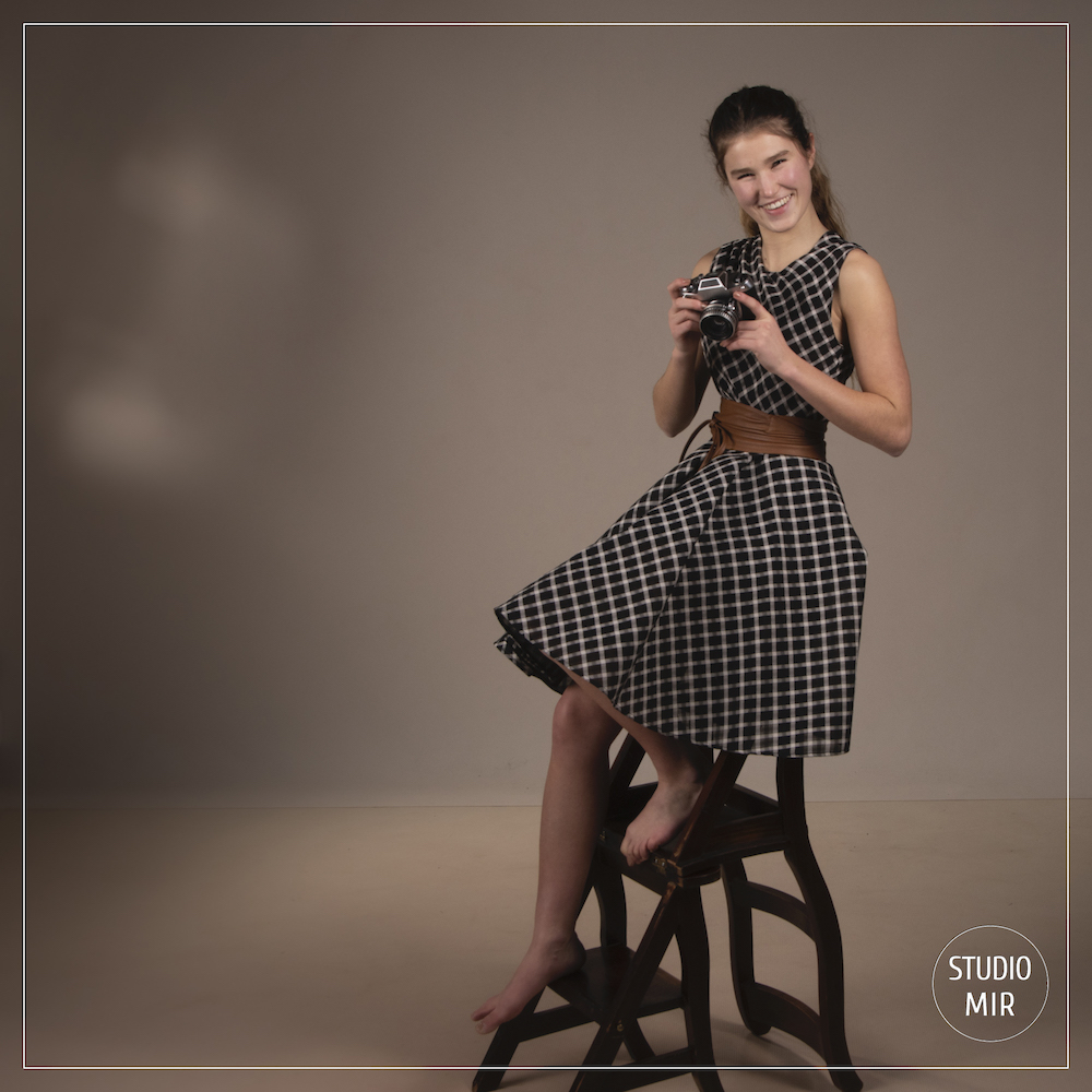 Photographe modèle en studio photo dans le Val de Marne