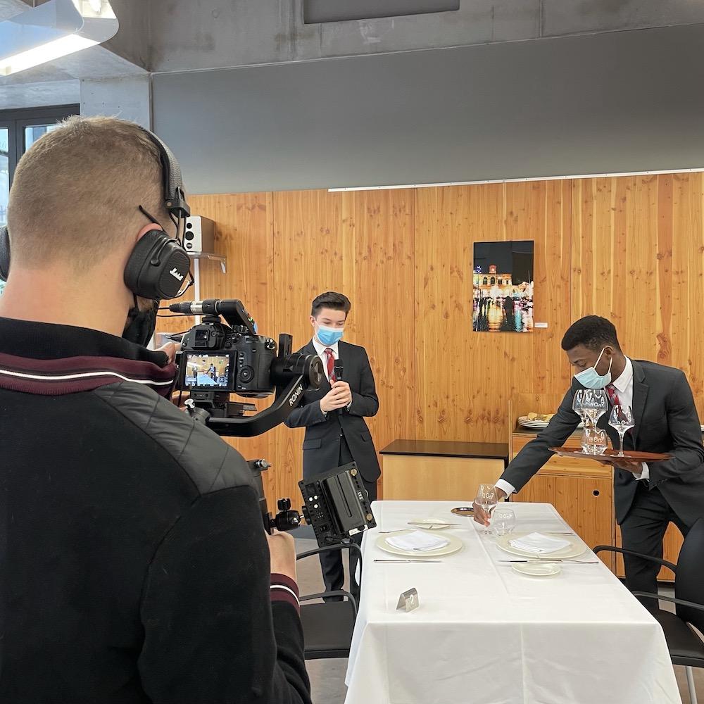 Vidéaste professionnel : Tournage vidéo au lycée hôtelier de Lille