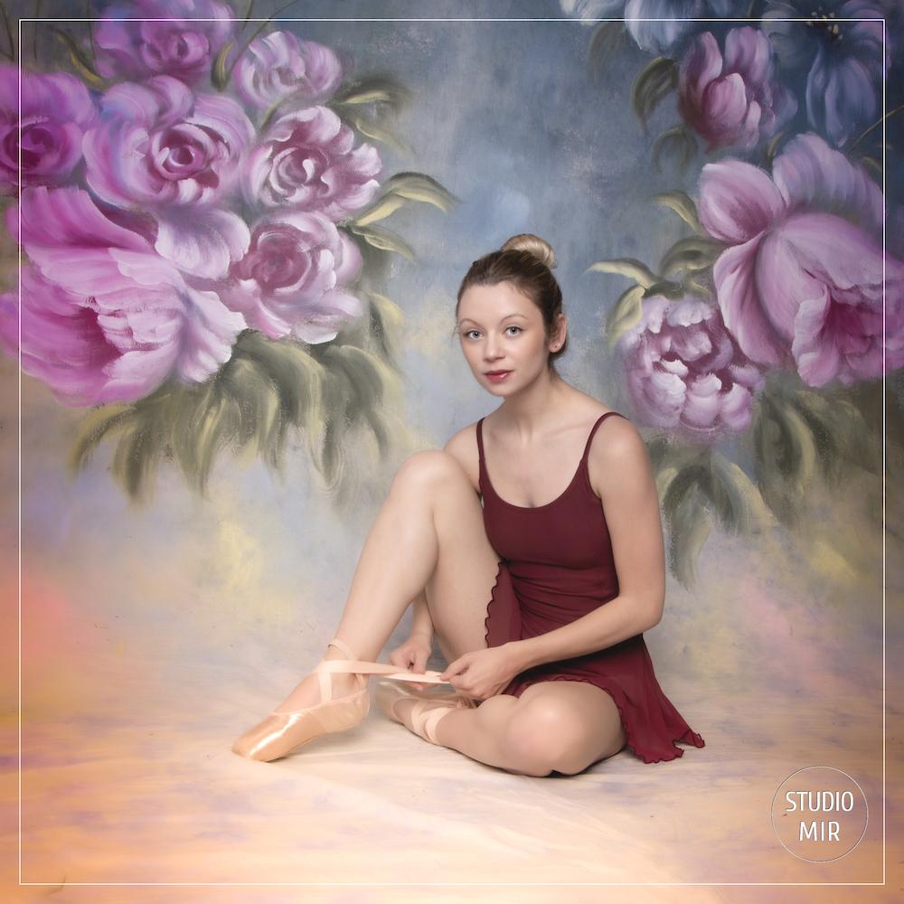 Photographe en studio : séance photo danseuse en Ile de France